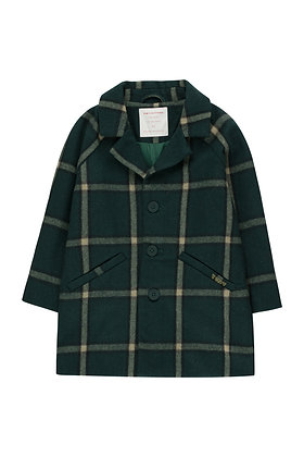 Tiny Cottons 'Tiny' Coat (Green/Multicolor)