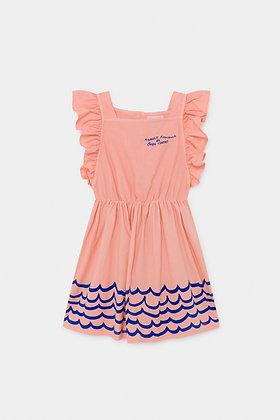 Bobo Choses Waves Woven Ruffle Dress
