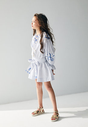 Nellystella Tia Dress (Small Blue Checks)