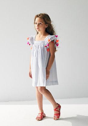Nellystella Chloe Dress (Small Blue Checks)