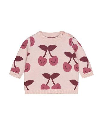 Huxbaby Cherry Knit Jumper (Rose)