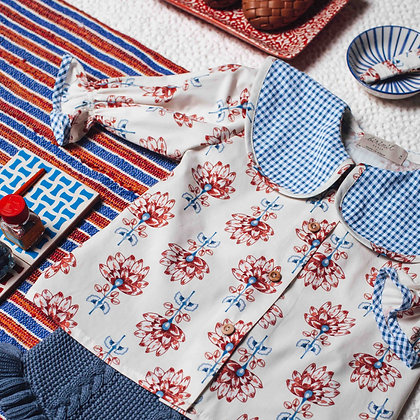 Birinit Petit Flor Nenúfar Blue Chulísima Shirt