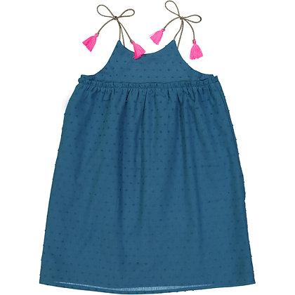 PETITE LUCETTE INGRID DRESS (PRUSSIAN BLUE)
