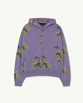 The Animals Observatory Seahorse Kids Sweatshirt (Purple Flowers)