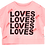 Thumbnail: Beau Loves Crop Sweat (Washed Pink/Love)