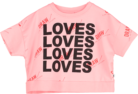 Beau Loves Crop Sweat (Washed Pink/Love)