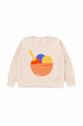 Tiny Cottons Ice Cream Sweatshirt (Pastel Pink/Light Papaya)