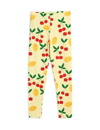 Mini Rodini Cherry Lemonade Leggings (Yellow)