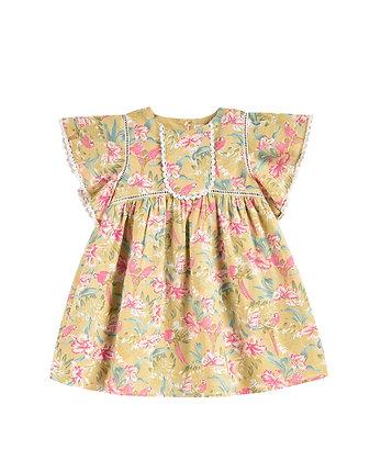 Louise Misha Christina Dress (Soft Honey Parrots)