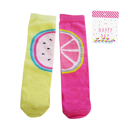 BILLIEBLUSH MISMATCHED SOCKS (YELLOW/PINK)