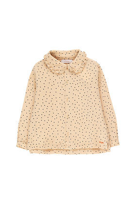 Tiny Cottons 'Tiny Dots' Shirt (Cappuccino/Navy)