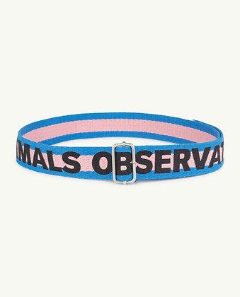 The Animals Observatory Stripes Lizard Kids Belt (Soft Pink The Animals)
