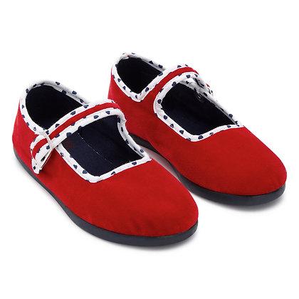 Bonton/Bonbon Plain Buckle Slippers (Rouge)