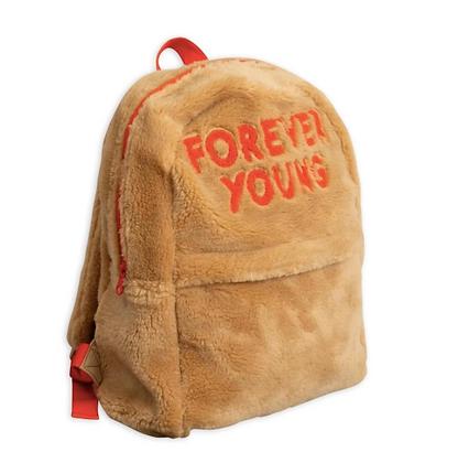 Mini Rodini Faux Fur Backpack (Beige)