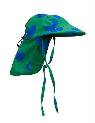 Mini Rodini Hearts Sun Cap (Green)