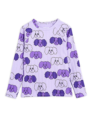 Mini Rodini Fluffy Dog Tee (Purple)