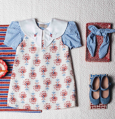 Birinit Petit Flor Nenúfar Blue Dress