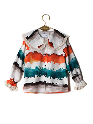 WOLF & RITA BLOUSE NOA (WATERCOLOUR STRIPES)