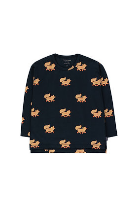 Tiny Cottons 'Foxes' Tee (Navy/Camel)