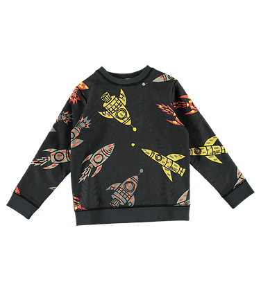 Stella McCartney Boy Rocket Sweatshirt (Dark Gray)