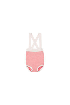 Tiny Cottons 'STICKS' BABY BRACES BLOOMER (Off-white/Red)