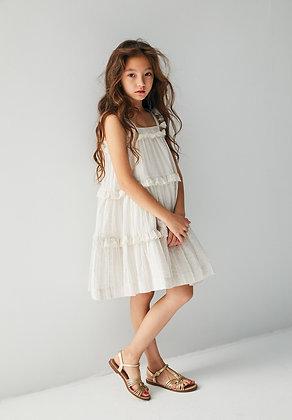 Nellystella Paige Dress (Rainbow Textured Stripes)
