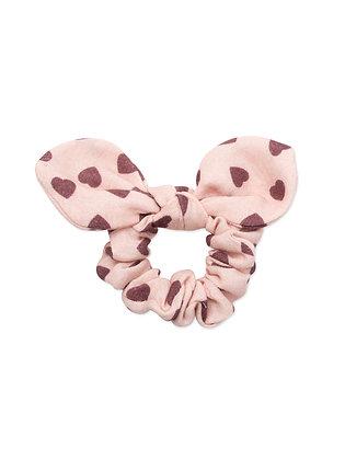 Bonton/Bonbon Heart Scrunchie (Imp Rose)