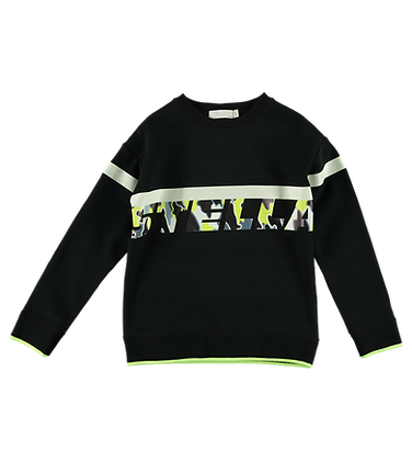 Stella McCartney Kid Oversize Sweatshirt With Camo Logo (Black)