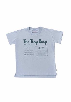 Tiny Cottons Tiny Bay Graphic Tee (Summer Grey/Dark Teal)