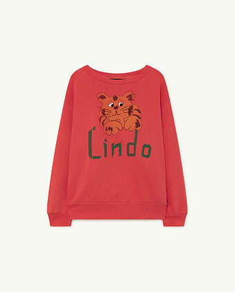 The Animals Observatory Bear Kids Sweatshirt (Red Lindo)
