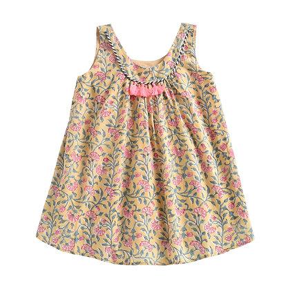 Louise Misha Calkini Dress (Lemon Flowers)