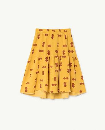 The Animals Observatory Cat Kids Skirt (Yellow Circles)