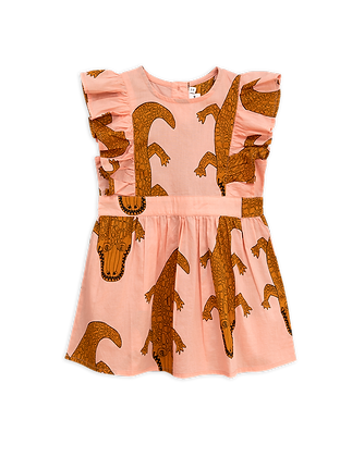 Mini Rodini Crocco Ruffled Dress (Pink)
