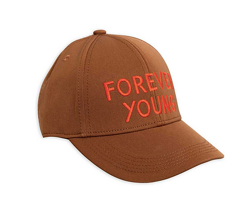 Mini Rodini Forever Young Embroidery Cap (Brown)