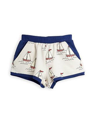 Mini Rodini Sailing Boats Shorts (Light Blue)