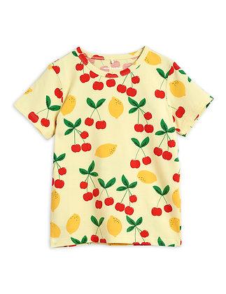 Mini Rodini Cherry Lemonade Tee (Yellow)