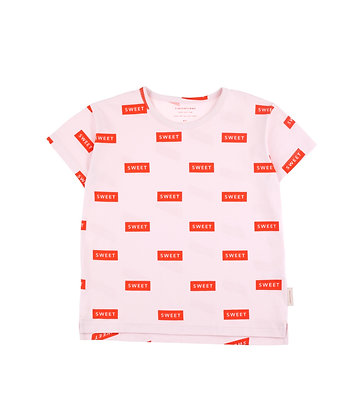 Tiny Cottons 'SWEET' Tee (Pearl/Red)