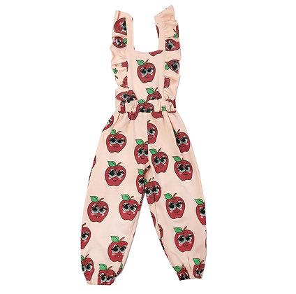 Hugo Loves Tiki Ruffle Jumpsuit (Pink Apples)