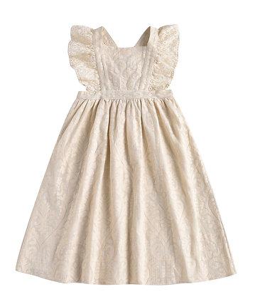 Louise Misha Cosala Dress (Cream Baroque Lace)