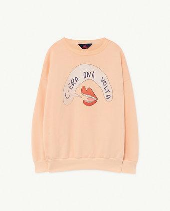 The Animals Observatory Big Bear Kids Sweatshirt (Peachy Mouth)