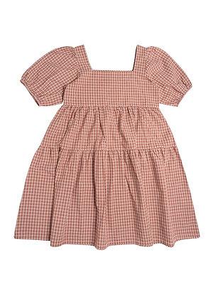 The New Society Arlette Dress (Caramel Check)