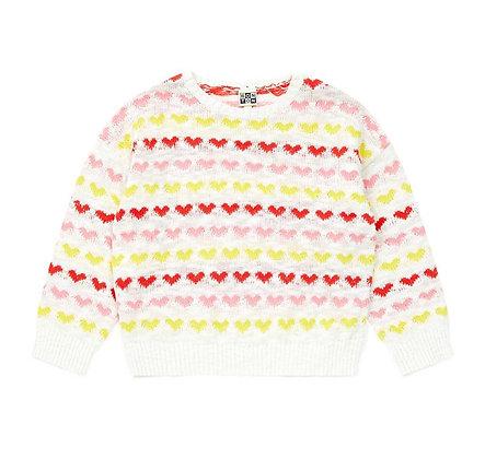 Bonton/Bonbon Heart Pullover (White Multi)