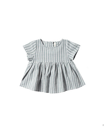Rylee + Cru Gingham Jane Blouse (Sea)