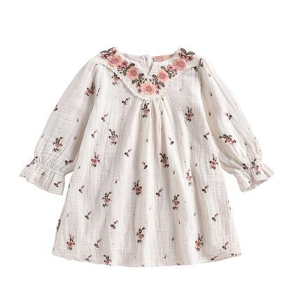 Louise Misha Ines Dress (Off-White Flowers)