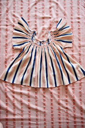 Bonjour Butterfly Blouse (Big Stripe)