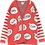 Thumbnail: Beau Loves Speech Bubbles Knit Cardigan (Red)