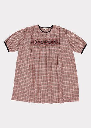 Caramel Dove Dress (Pink Check)