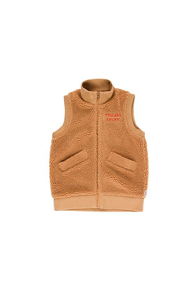 Tiny Cottons Sherpa Long Vest (Brown)