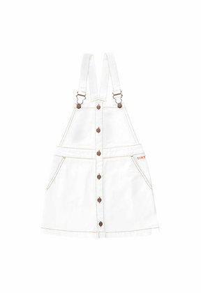 Tiny Cottons Denim Dress (Off-white)