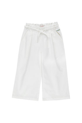 Tiny Cottons Denim Wide Pant (Off-white)